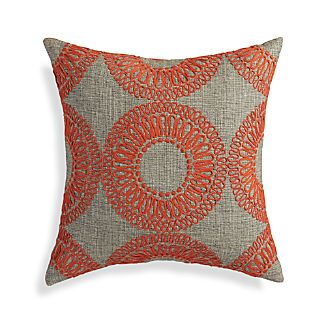 "Gracie Orange 18"" Pillow"