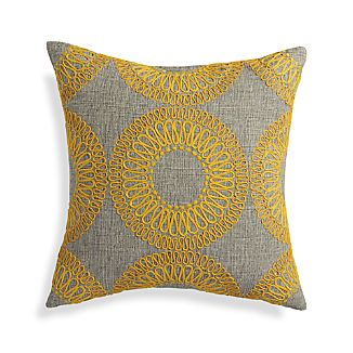 "Gracie Yellow 18"" Pillow"