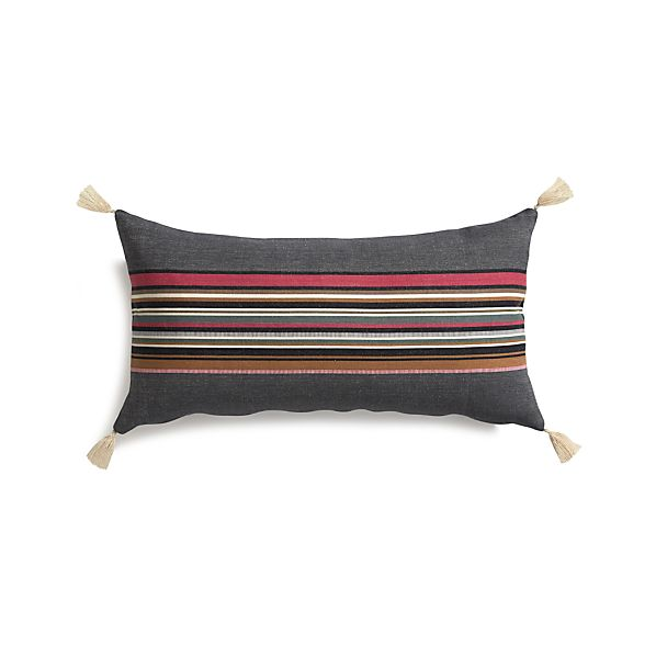 "Grady Berry 24""x12"" Pillow with Down-Alternative Insert"