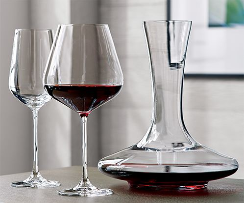 Red Wine Glasses and Decanter