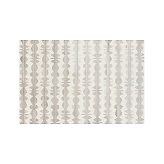 Graphite Neutral Striped Wool 6'x9' Rug