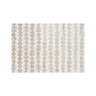Graphite Neutral Striped Wool 6'x9' Rug