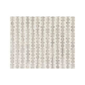 Graphite Neutral Striped Wool 8'x10' Rug