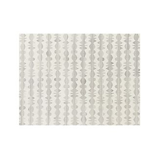 Graphite Neutral Striped Wool 9'x12' Rug