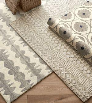 Graphite Neutral Striped Wool 9