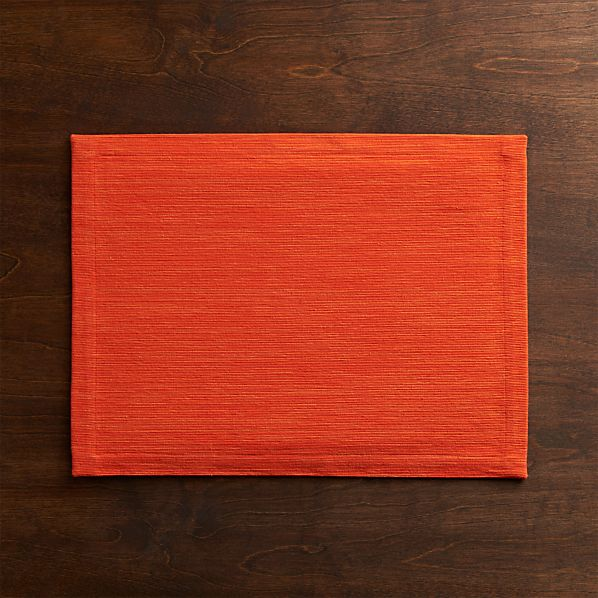 Grasscloth Tangelo Placemat