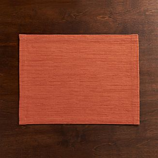 Grasscloth Coral Placemat