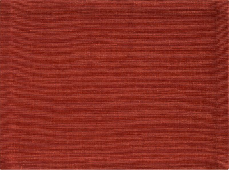 Rich hand-dyed colors in subtle tone-on-tone hues are handwoven into a grasscloth textured placemat.<br /><br /><NEWTAG/><ul><li>100% cotton</li><li>Hand-dyed and handwoven</li><li>Machine wash placemat; dry flat and iron damp</li><li>Made in India</li></ul><br />