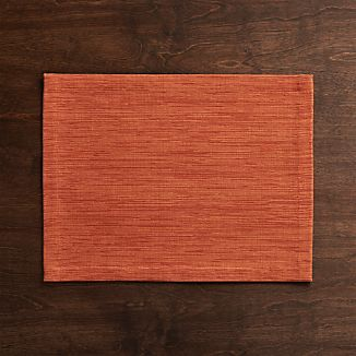 Grasscloth Orange Cloth Placemat