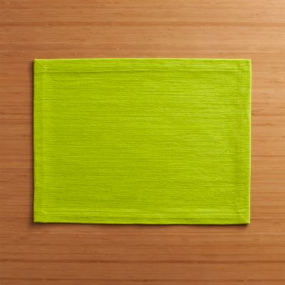 Grasscloth Lime Placemat