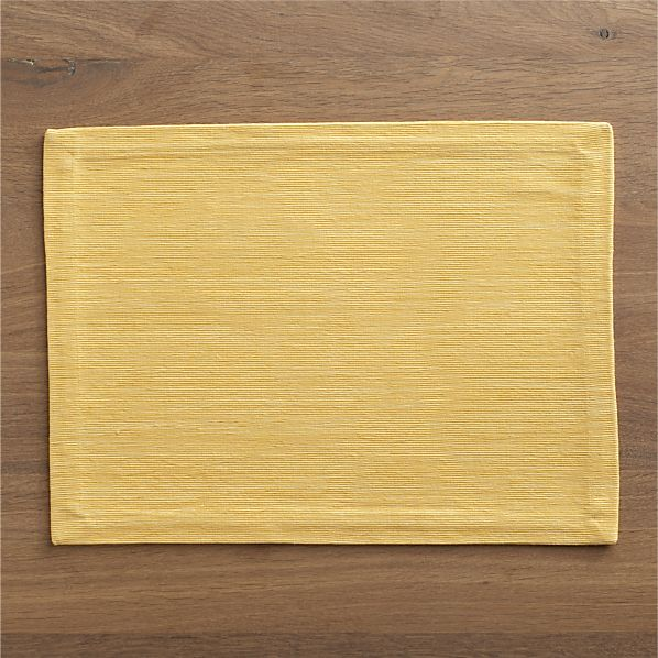 Grasscloth Daffodil Placemat