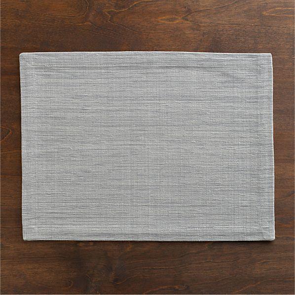Grasscloth Dove Placemat