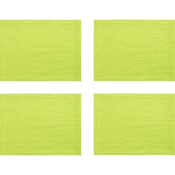 Set of 4 Grasscloth Lime Placemats