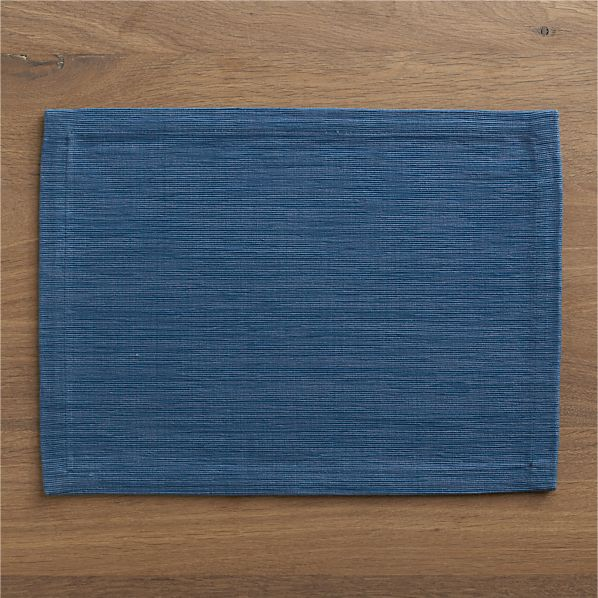 Grasscloth Smoky Blue Placemat