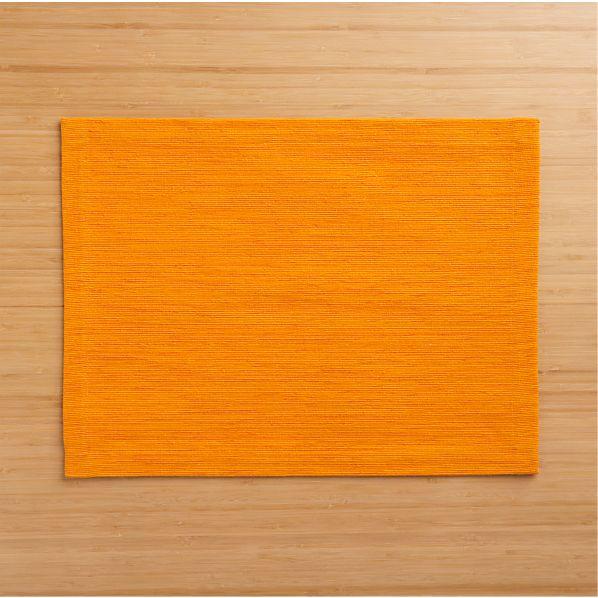Grasscloth Tangerine Placemat