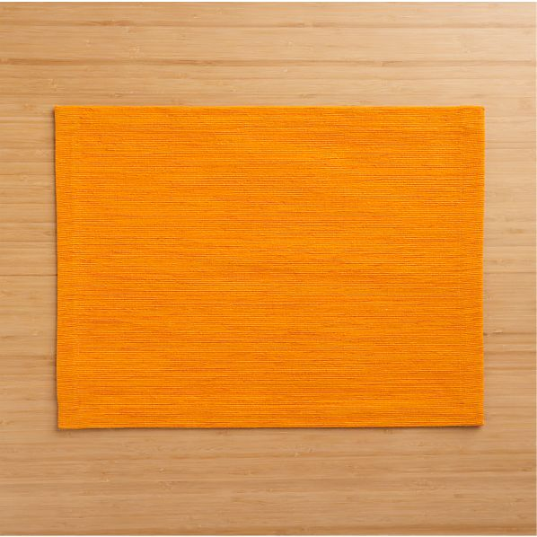 Grasscloth Tangerine Placemat