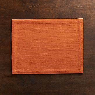 Grasscloth Pumpkin Placemat