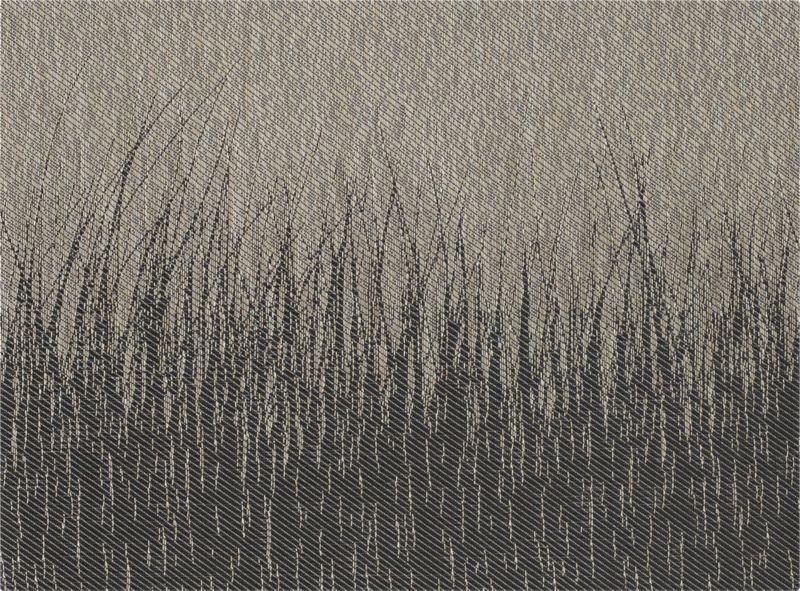 Black grasses cast a graphic silhouette on dark charcoal printed on easy-care woven vinyl.<br /><br /><NEWTAG/><ul><li>100% woven vinyl placemat</li><li>Hand wash placemat</li></ul><br />