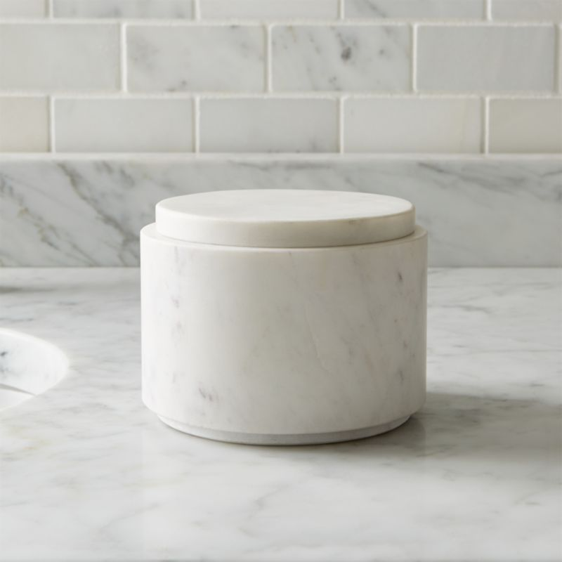 Graydon Large Marble Bathroom Canister