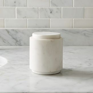 Graydon Small Marble Bathroom Canister