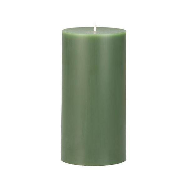 "Green 3""x6"" Pillar Candle"