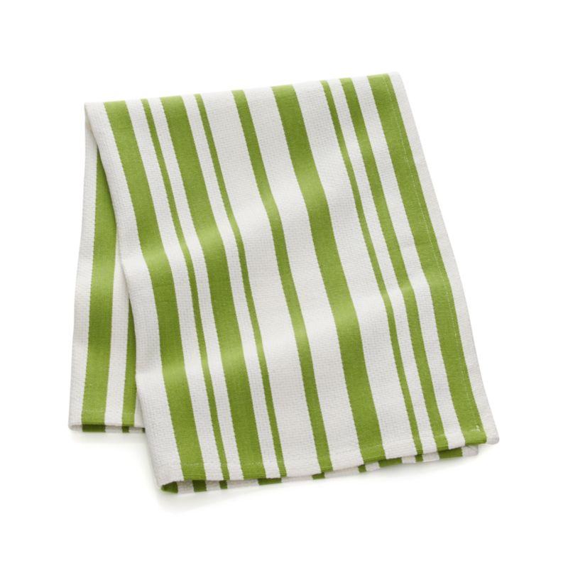 Green Stripe Dish Towel