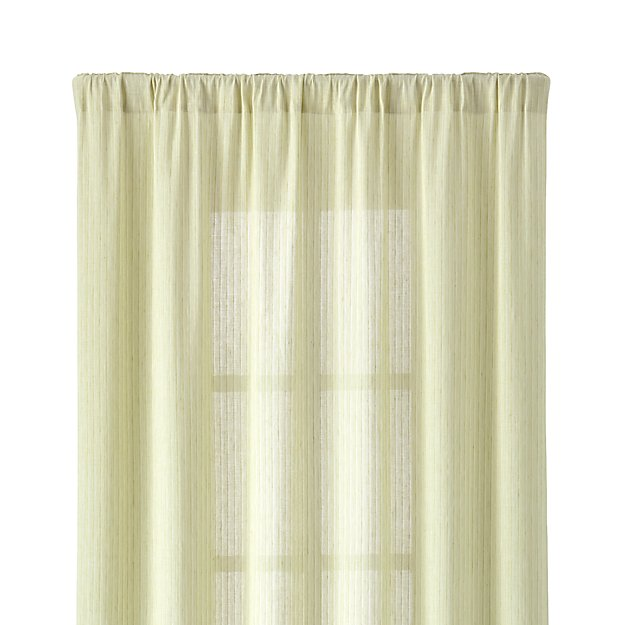 "Greenwood 50""x84"" Green Linen Curtain Panel"