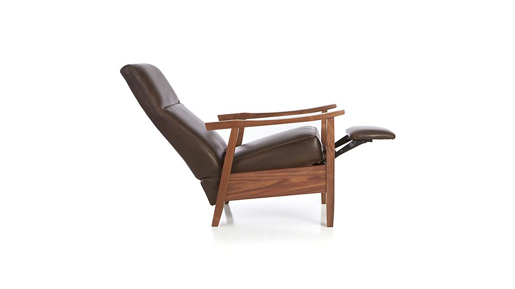 Greer Modern Leather Recliner Crate And Barrel