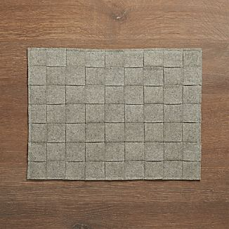 Basketweave Grey Felt Placemat
