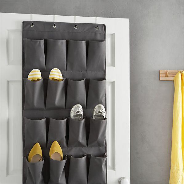 Grey Over The Door Shoe Bag