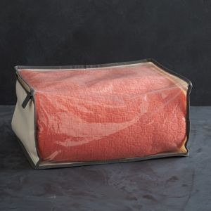 Small Storage Bag with Grey Trim