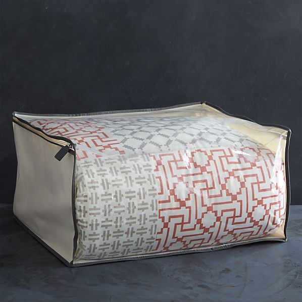 Large Storage Bag with Grey Trim