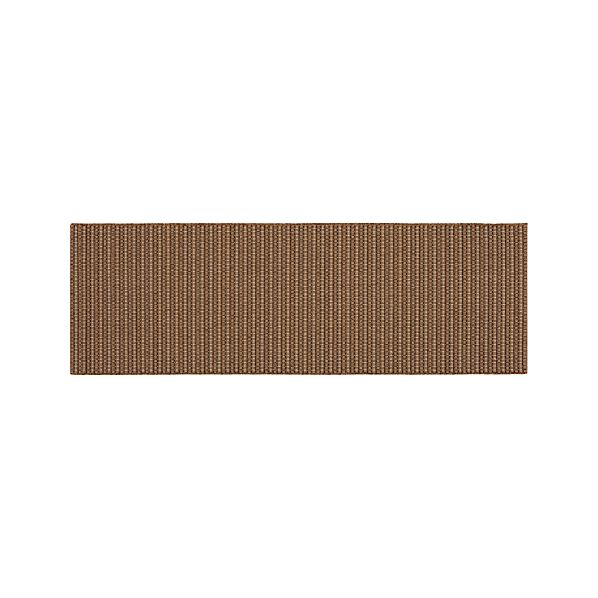 Grid Brown Indoor-Outdoor 2.5'x8' Runner