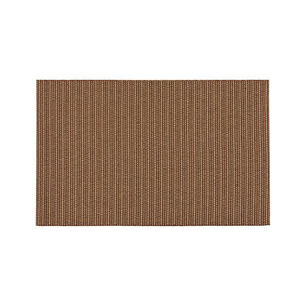 Grid Brown Indoor-Outdoor 9x12' Rug