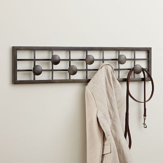 Grid Wall Mounted Coat Rack