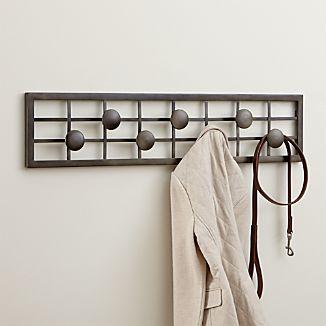 Grid Wall Mounted Coat Rack