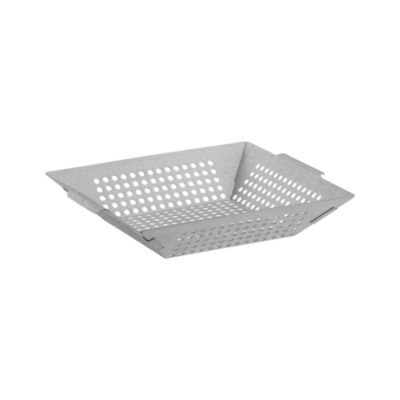 Brushed Stainless Steel Grill Basket