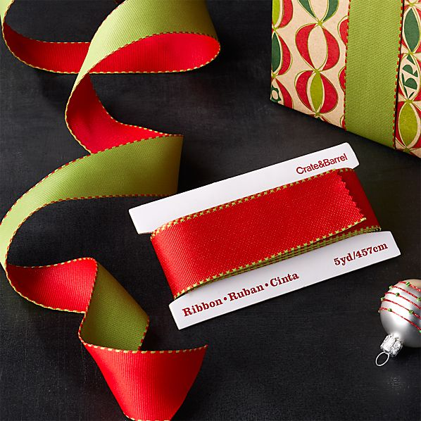 Red and Green Grosgrain Ribbon