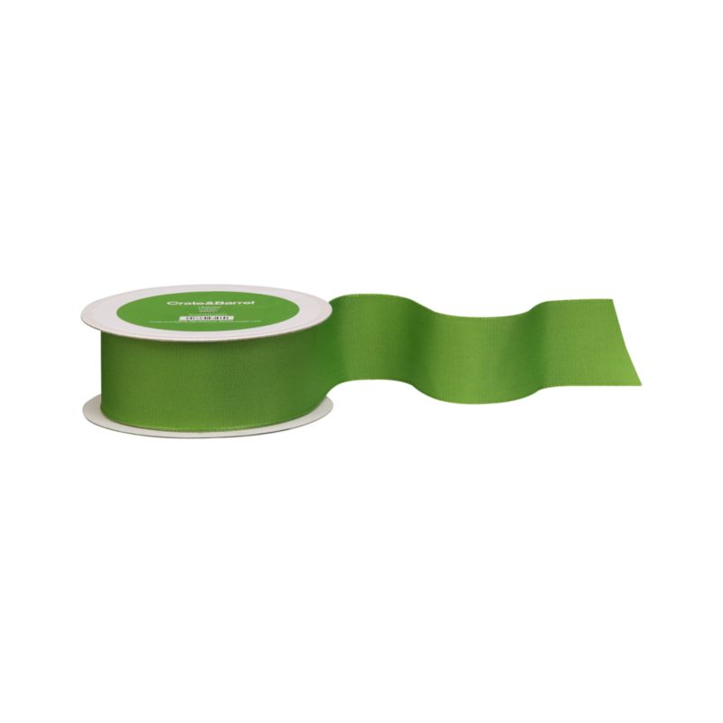 Heavy-duty corded ribbon in a festive green adds flair to gift packages. Wired edges provide optimal control.<br /><br /><NEWTAG/><ul><li>Polyester grosgrain and wire</li></ul><br /><br />