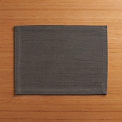 Grasscloth Graphite Placemat