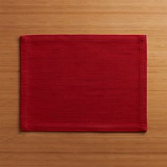 Grasscloth Ruby Placemat