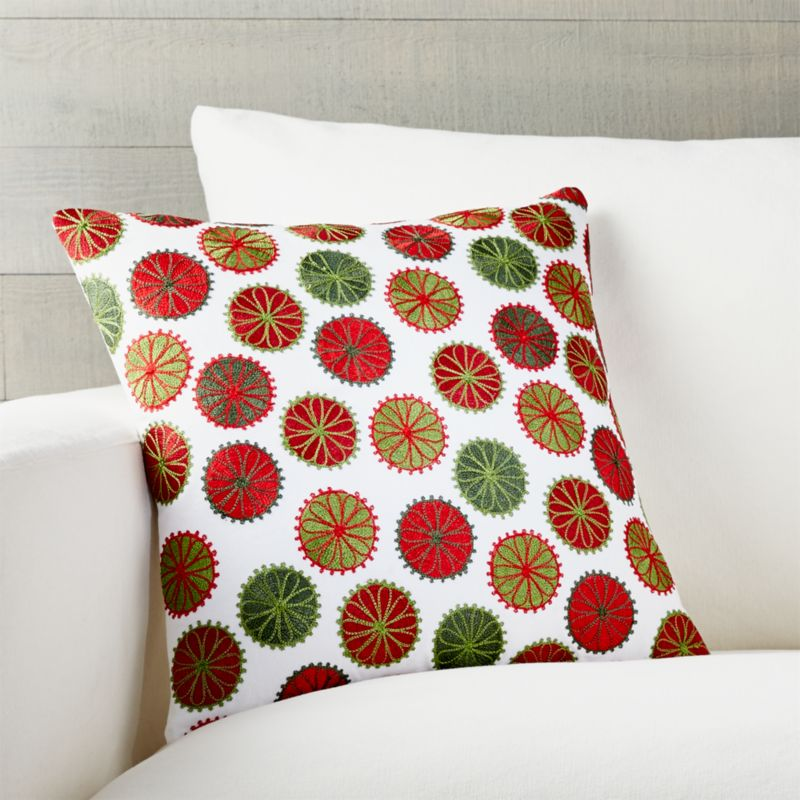 "Gumdrop 16"" Pillow with Feather-Down Insert"