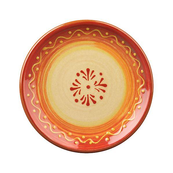 Hacienda Red Appetizer Plate