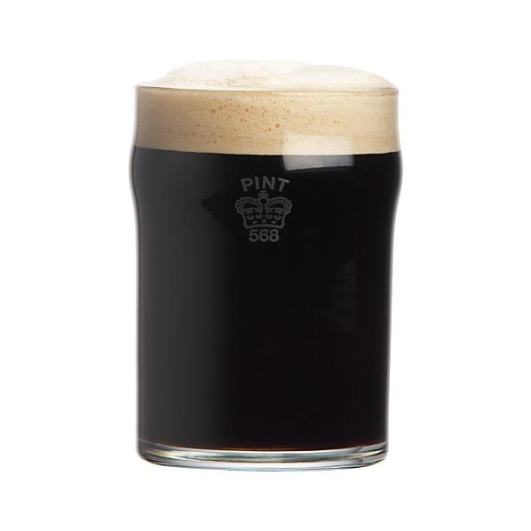 Half Pint Glass Tumbler with Crown