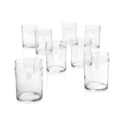 Set of 8 Half Pint Tumblers with Crown