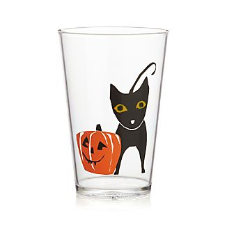 Halloween Black Cat Clear Acrylic Tumbler