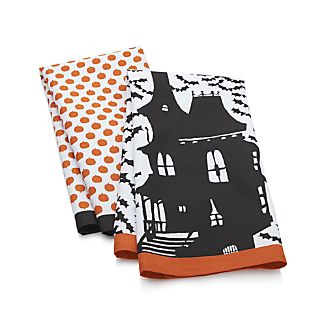 Set of 2 Halloween Dish Towels