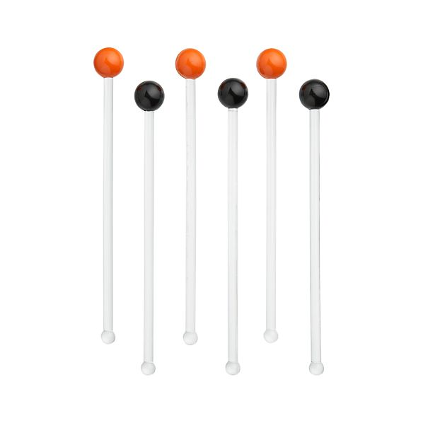 Set of 6 Halloween Stir Sticks