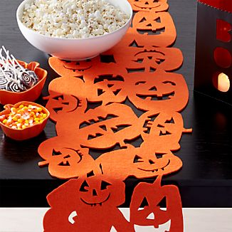 Halloween Pumpkins Felt Table Runner