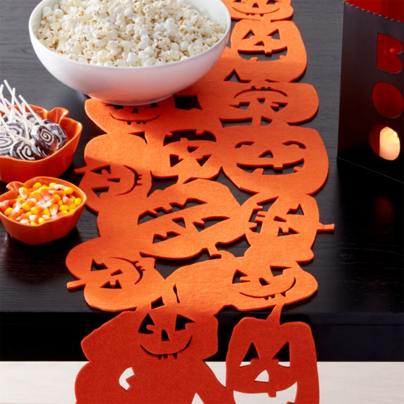 Halloween Pumpkins Felt Table Runner